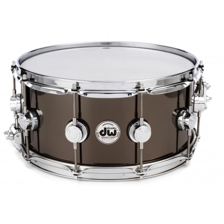 Caja DW 6.5x14in Collector's Series Black Nickel Over Brass 3
