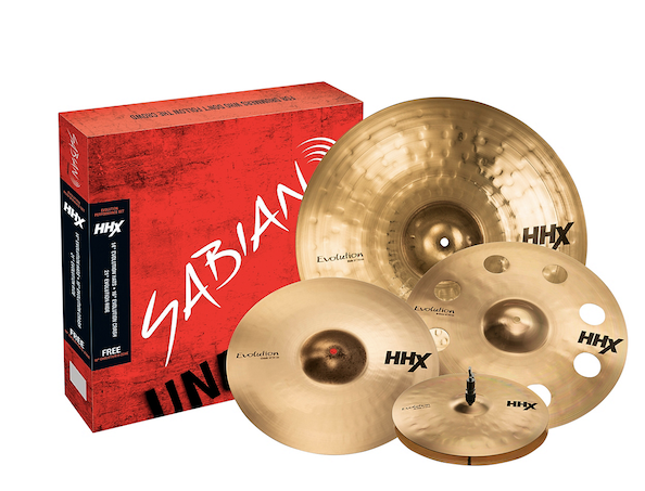 "Set de Platillos Sabian HHX Evolution Cymbal Set gratis 18"" Ozone Crash 1"