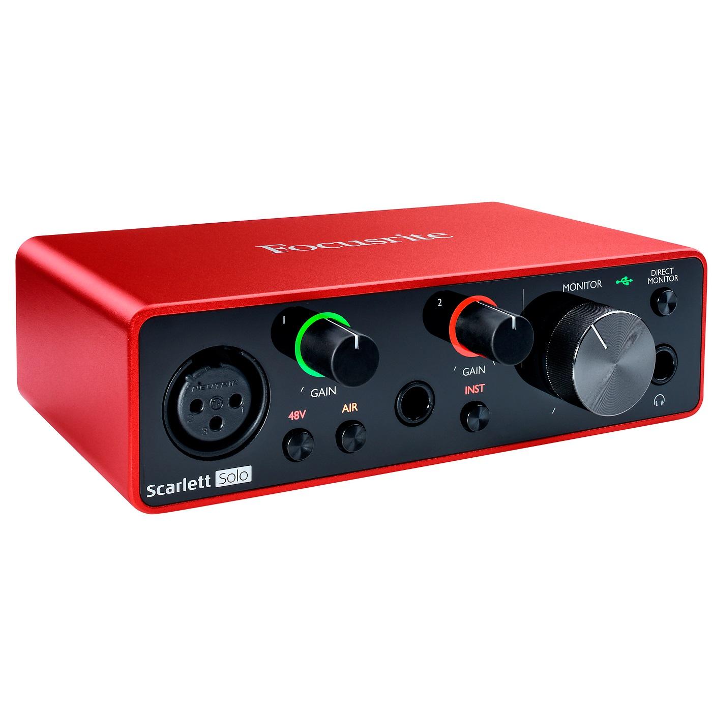 Interfaz de Audio USB Focusrite Scarlett Solo (3ra Gen.) 1
